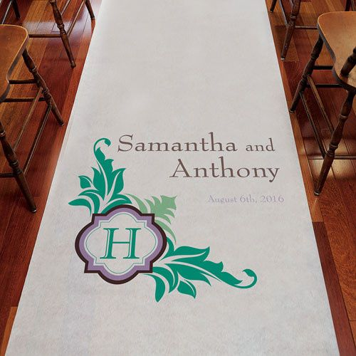 Lavish Monogram Personalized Aisle Runner These Aisle Runners are made of 33 gram non-woven fabric....
