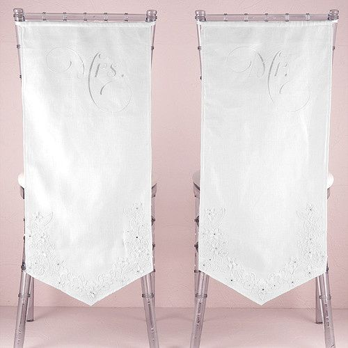 Tmx 1417913051342 9430linen Chair Banners With Embroidered Mr And Mr Boston wedding favor