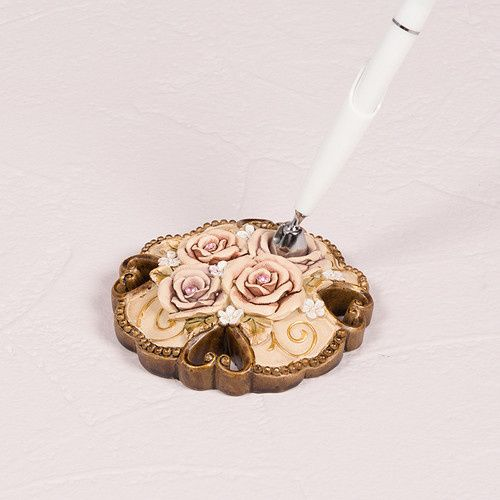Tmx 1418575837358 9294elegant Vintage Rose Pen With Holder3543db64f9 Boston wedding favor