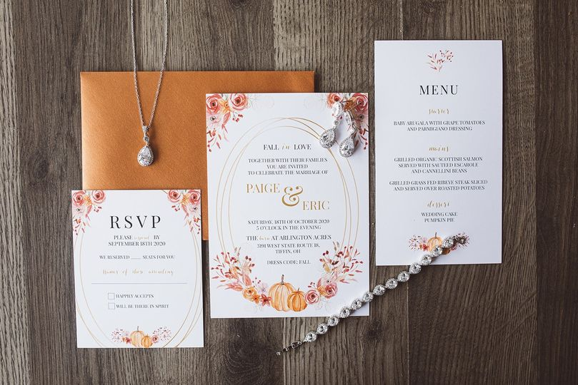 Fall wedding suite