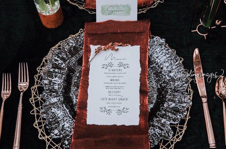 Woodsy handmade menu