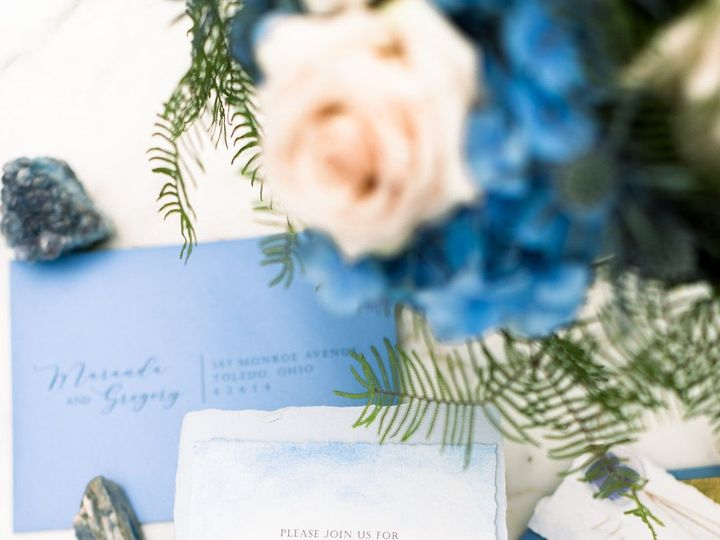 Tmx Whimsical Blue Garden Wedding In Northwest Ohio Amy Simkus Photography Gardenbluestyledweddingshoot2019 Big 51 1942401 158204004020366 Bowling Green, OH wedding invitation