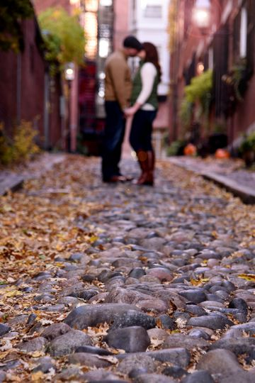 Acorn Street Boston Engaged