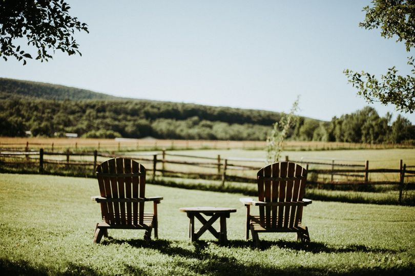 Outdoor seating, ideal for the happy couple