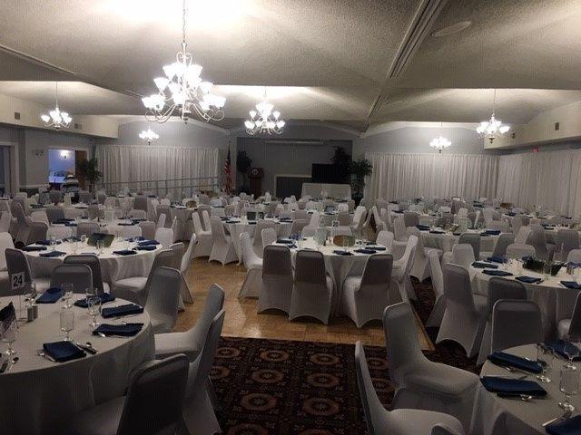 Ballroom banquet setup