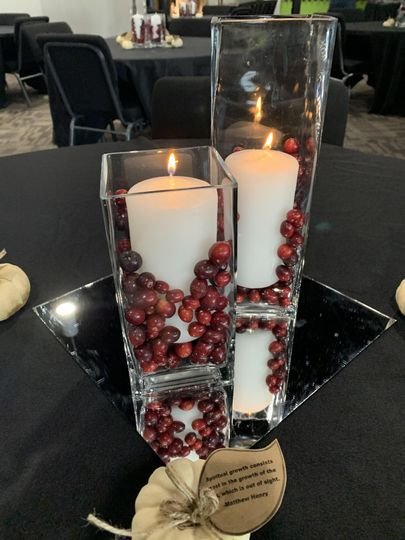 Cranberry and Candles