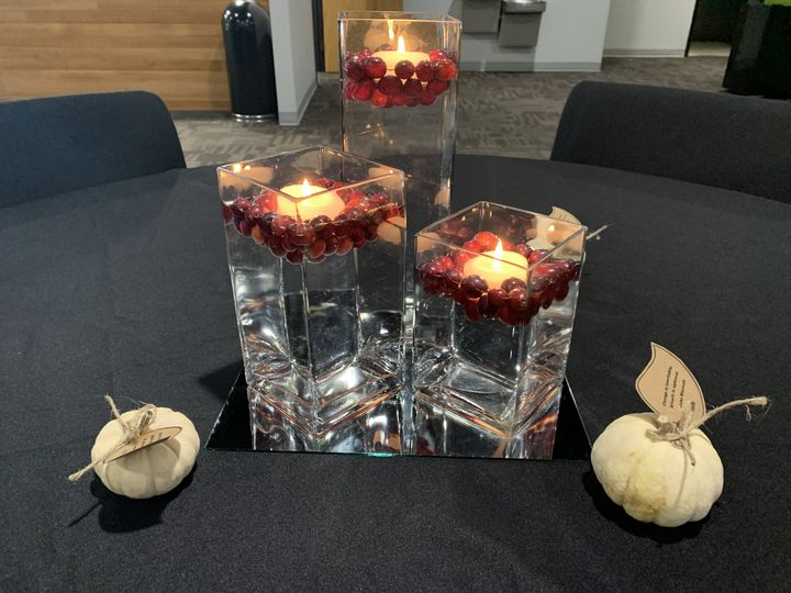 Floating Cranberry/candles
