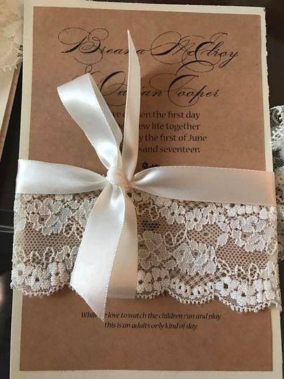 Custom boho chic wedding invitation