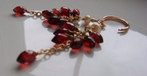 Tiny Dancer Garnet Dew Drop Earrings