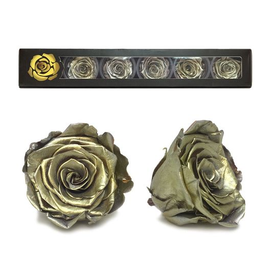 Gold Rose heads, Lasts Up to 5