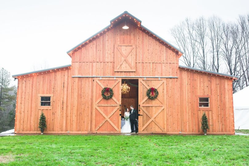 The Barn at Gully Tavern - the newlyweds