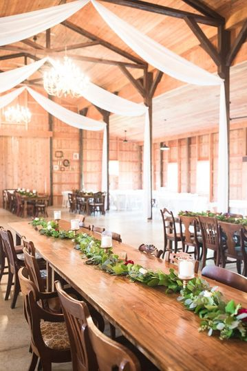 The Barn at Gully Tavern - wooden tables and chairs