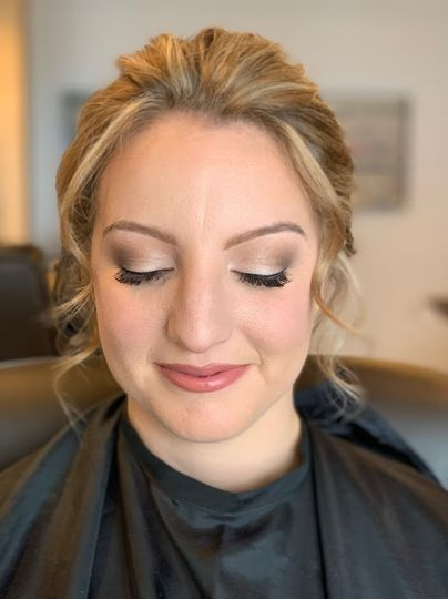 Soft glamorous makeup