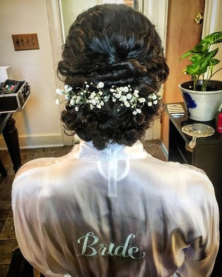 Naturally curly updo