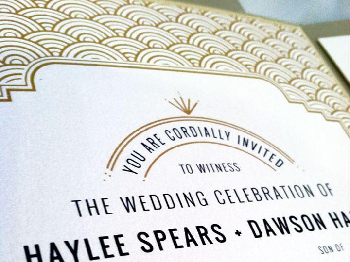 Tmx 1416325983766 Art Deco Rocky River, OH wedding invitation