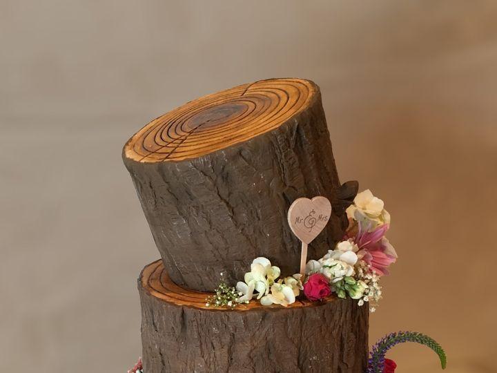 Tmx 1472646297892 Top Bark Cake Wm Use Lisbon Falls wedding cake