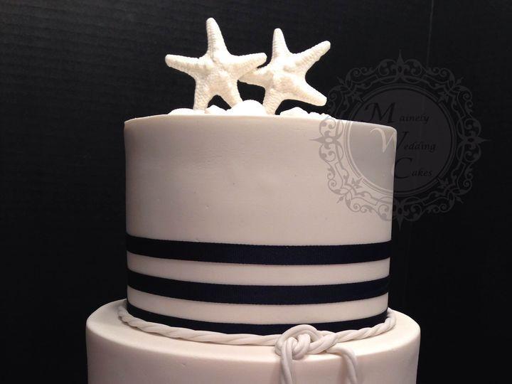 Tmx 1472646710245 Mainely Wedding Cakes Nautical Theme With Starfish Lisbon Falls wedding cake