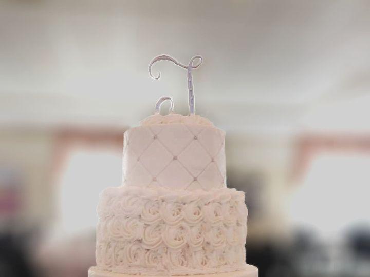 Tmx 1472646748969 Mainely Wedding Cakes Rosette Buttercream With Dia Lisbon Falls wedding cake