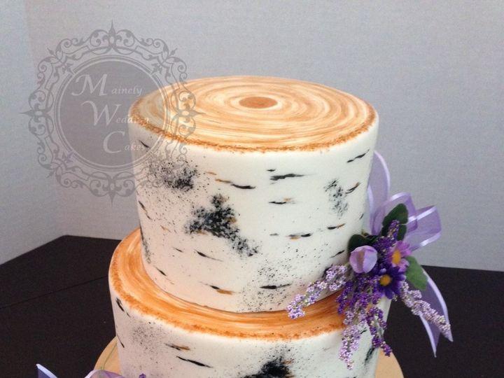 Tmx 1472646776567 Mainely Wedding Cakes White Birch Bark Wm Lisbon Falls wedding cake