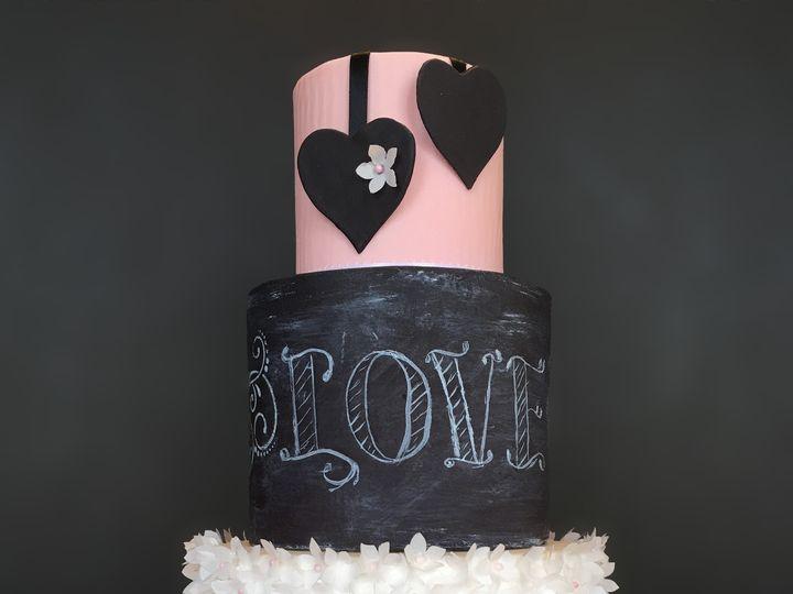 Tmx 1472647970969 Chalkboard Wm22 Lisbon Falls wedding cake
