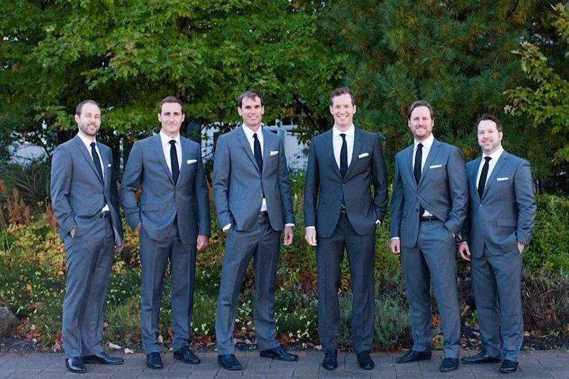 The handsome groomsmen
