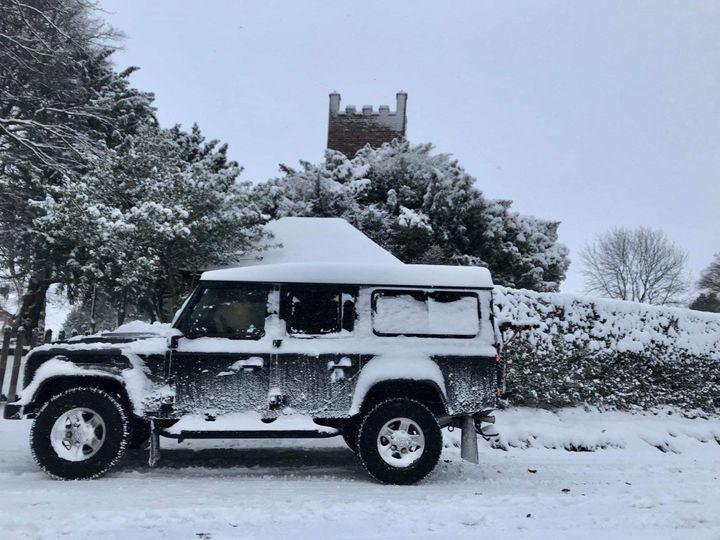 Land Rover wedding car
