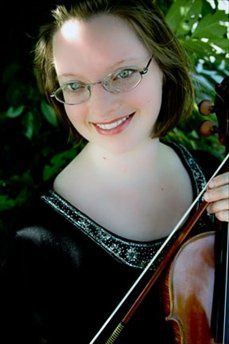 Violinist Laura Boyd at Ashford Manor in Watkinsville, GA