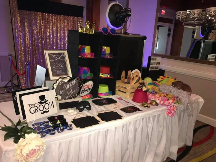 Photo booth props table
