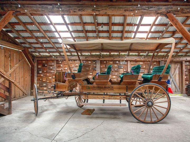 Tmx Wagon In Barn 51 132501 1566254492 Bigfork, MT wedding venue
