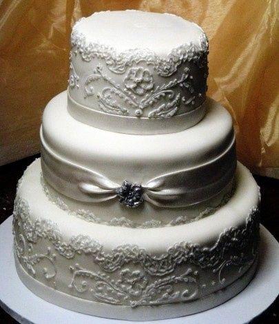 wedding white fondant