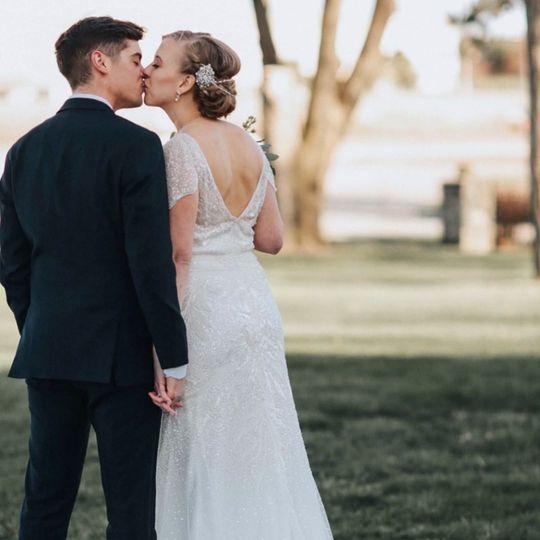 Stunning bridal updo