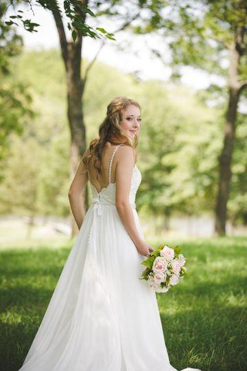 Simple bridal hair and makeup