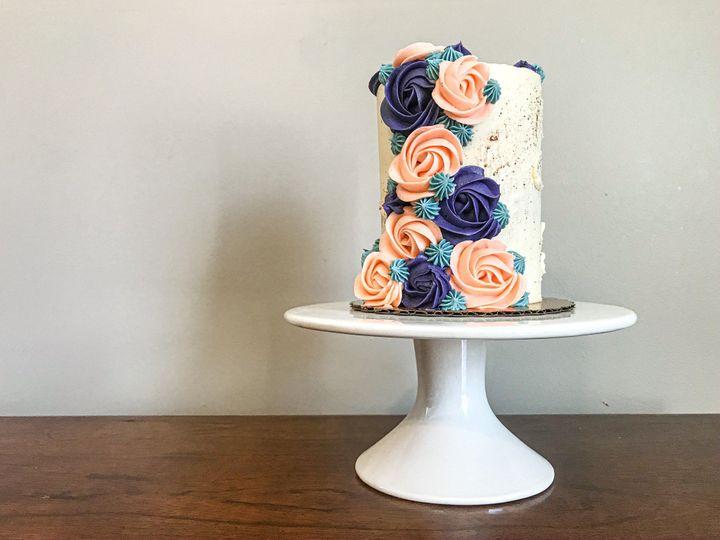 Intimate wedding cake