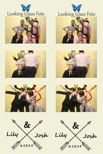 Custom strips wedding