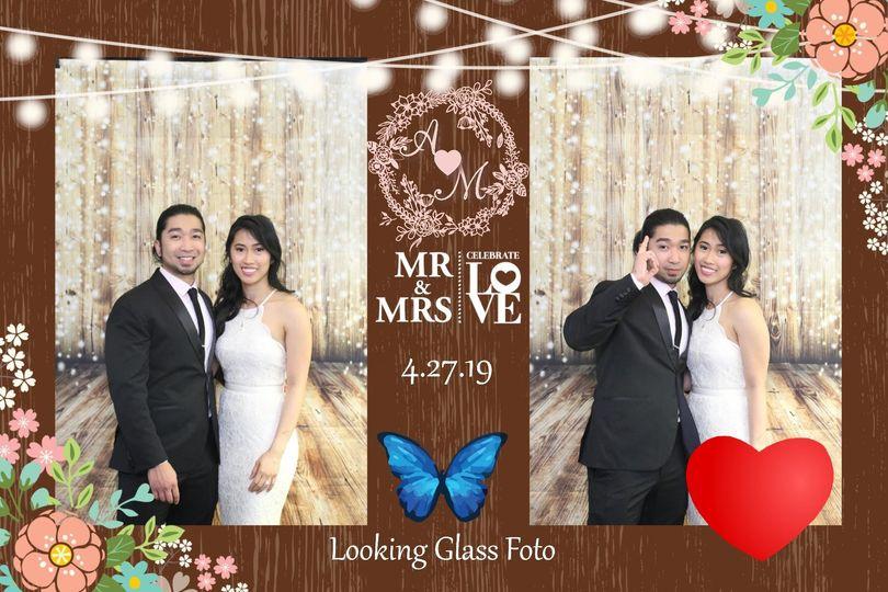 Double photo layout