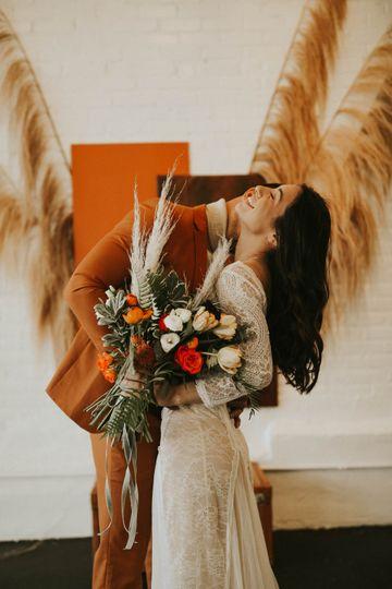 Dusty orange florals