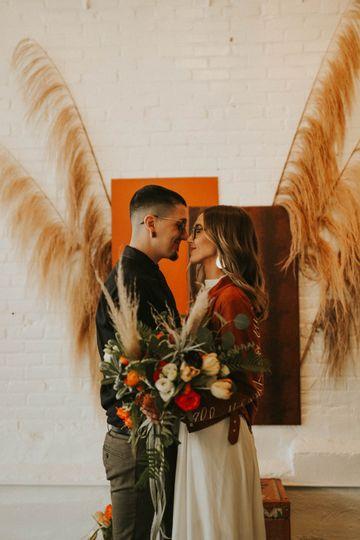 Dusty orange backdrop