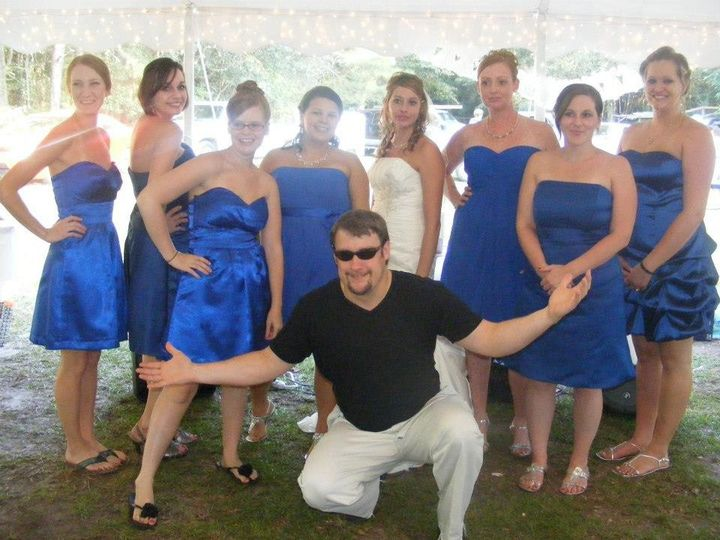 The Dj with the bridesmaids