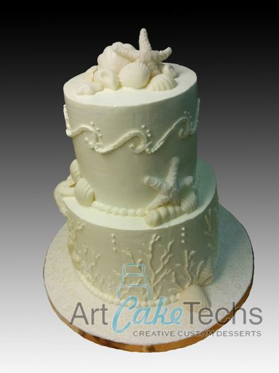 sea shells 55th anniversary cake