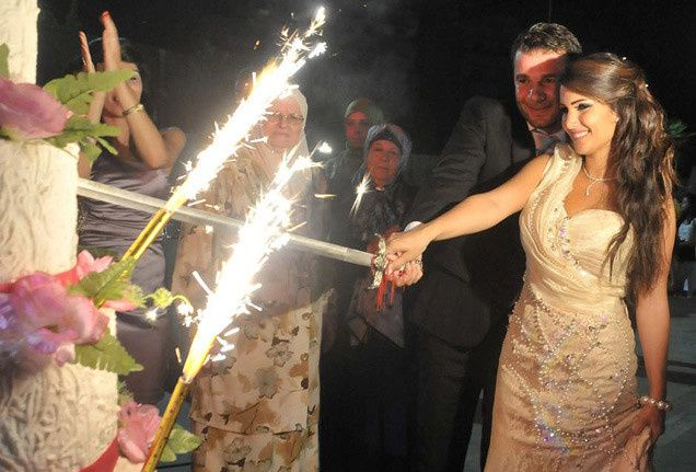 wedding cake sparkler