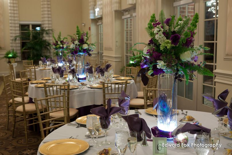 Table set-up and centerpiece