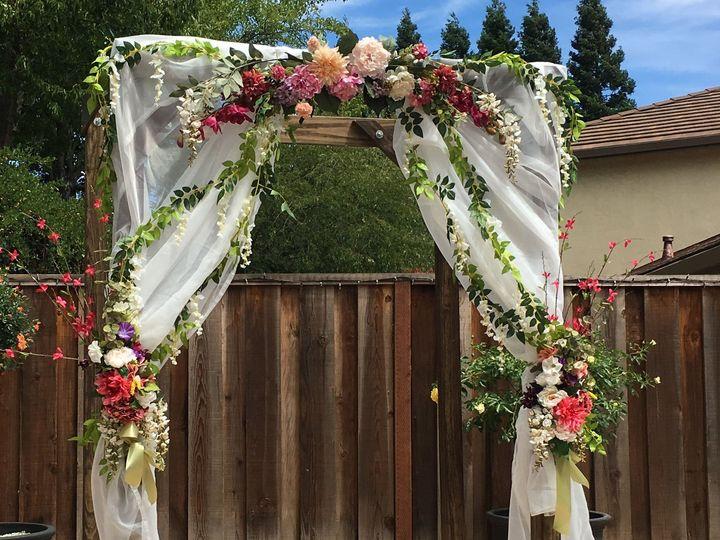 Tmx Ja Wedding Arch Pink Yellow Red White 51 1999501 160634146429889 San Bruno, CA wedding florist