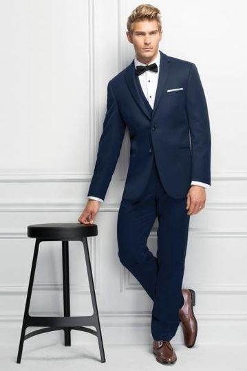 Navy blue tuxedo