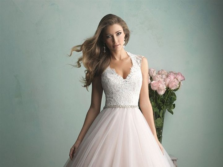 Tmx 1466210057973 Allure 9162 V Neck Ball Gown Illusion Back Embroid San Jose, California wedding dress