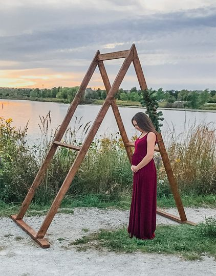 A-Frame Arch - Maternity Photo