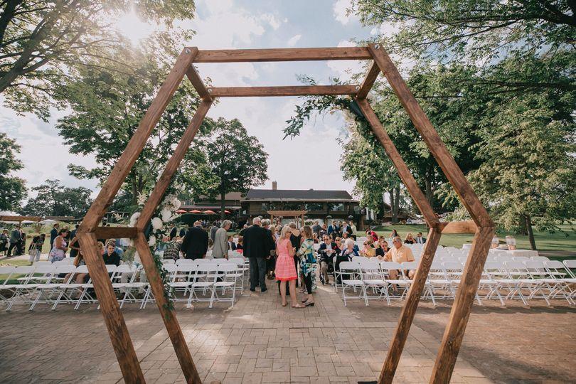 Geometric Arch - WI Ceremony