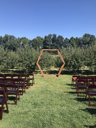 Geo Arch - Michigan Wedding