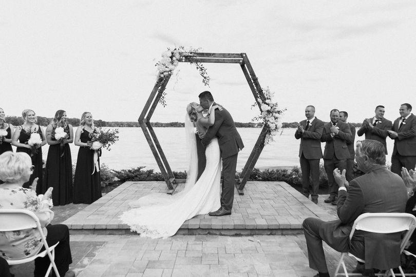 Geometric Arch - Lake Ceremony