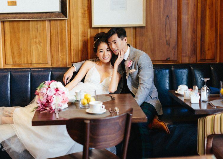 Stylish newlyweds