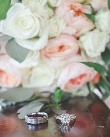 Wedding rings   Photo by Credit Madi May Photography